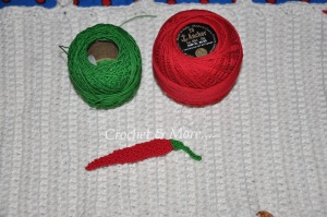 Thread used to make the red pepper