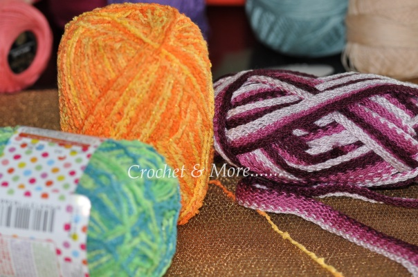 This fuzzy wozy yarn is great to be used in hooking scarves ad bags...