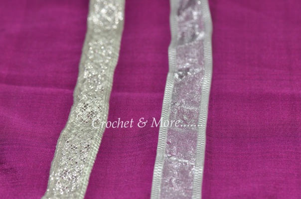 Metallic ribbon, Georgette ribbon...use a 0 8mm and above for these