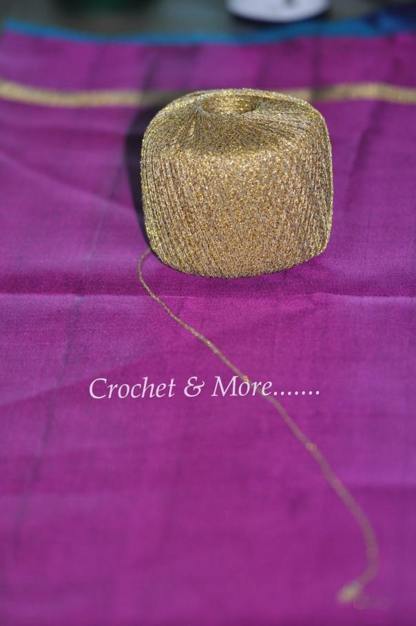 Metallic knitting yarn hook size 3.00mm to 4.00mm