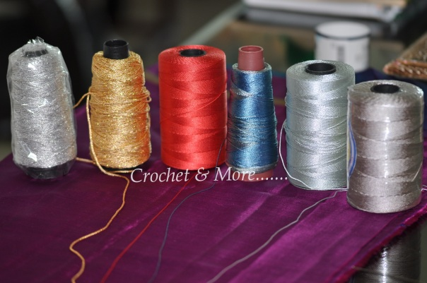 Nylon thread ..good for bags and purses.....Hook 1.75mm, 2.00mm 2.5mm