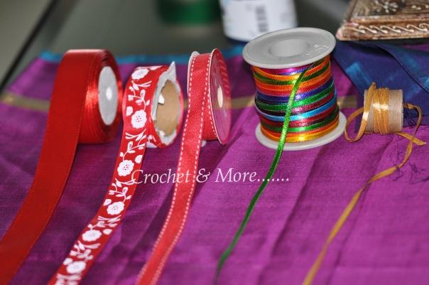 Satin ribbons of various width